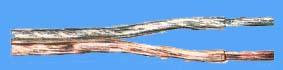 ls kabel 2 x 4.00 mm² transparant zilver 100 mtr.