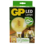 gp led Globe 125mm  Filament 5w e27 (25w) Gold