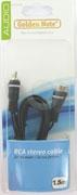 cinch verlengkabel stereo 1.50 mtr.