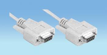 nul modem9 pol. sub-D female > 9 pol. sub-D female  1.80m.
