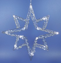 LED ster met kristal stenen