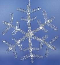 LED sneeuwflok met kristal stenen