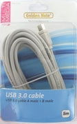 USB super speed kabel   A naar B 5.00 mtr.