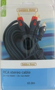 Masterline cinchkabel stereo 10.00 mtr.