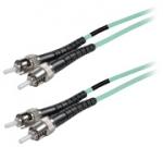 Duplex fiber optic netwerkkabel OM4 ST-ST 1.00 mtr.