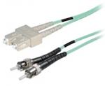 Duplex fiber optic netwerkkabel OM4 SC-ST 10.00 mtr.