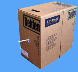 Coaxkabel Belden H125 wit  250mtr.