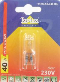 toplux g9 capsule 40w helder