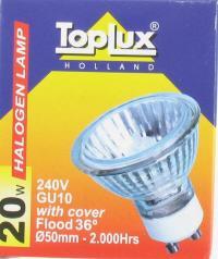 toplux gu10 20w 36graden halogeen