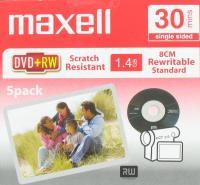maxell dvd +rw 1.4gb 8cm 5 pak