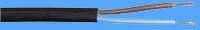 vmvs 2 x 0.75 mm²ovaal zwart 100 mtr.