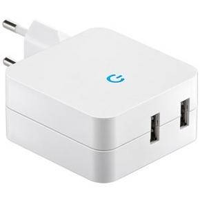 Oplader 230V / 2x USB 4.1A