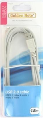 USB high speed kabel  A naar micro B 1.80 mtr.