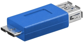 USB 3.0 adapter A-contra > Micro B-steker
