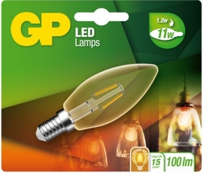 gp led kaars Filament 1,2w e14 (11w) Gold