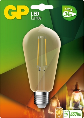 gp led Rustiek Filament 4w e27 (37w) Gold