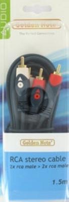 Masterline cinchkabel stereo 0.50 mtr.