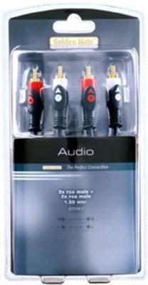 Masterline cinchkabel stereo 1.50 mtr.