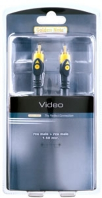 Masterline video cinchkabel 1.00 mtr.