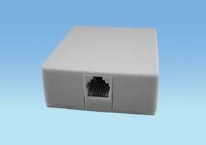 Modulair Opbouw wandkontaktdoos 6p4c