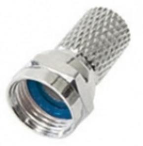 F-connector schroefbaar 4mm