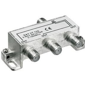 F-splitter 5-1000 MHz; voor CAI; 3 -voudig