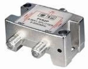 F-splitter 5-2450 MHz; voor SAT; 2-voudig