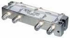 F-splitter 5-2450 MHz; voor SAT; 6-voudig