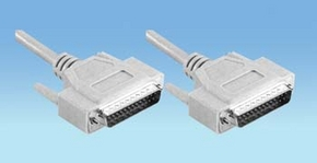 seriele kabel 25 pol. sub-D male > 25 pol. sub-D male  1.80m