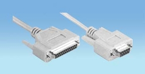 nul modem 25 pol. sub-D female > 9 polige sub-D female 1.80m