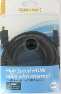 High Speed HDMI met ethernet 5.00 mtr.